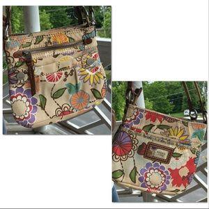 Floral Crossbody Multi Compartment Mini Bag